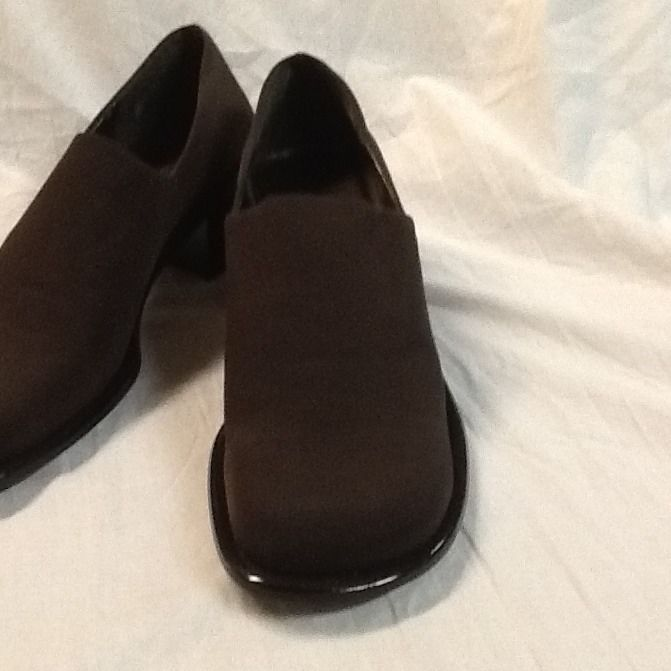 SAM And LIBBY Shoes Size 7.5 Brown Stretch Lidia SL Slip On 2 Wide