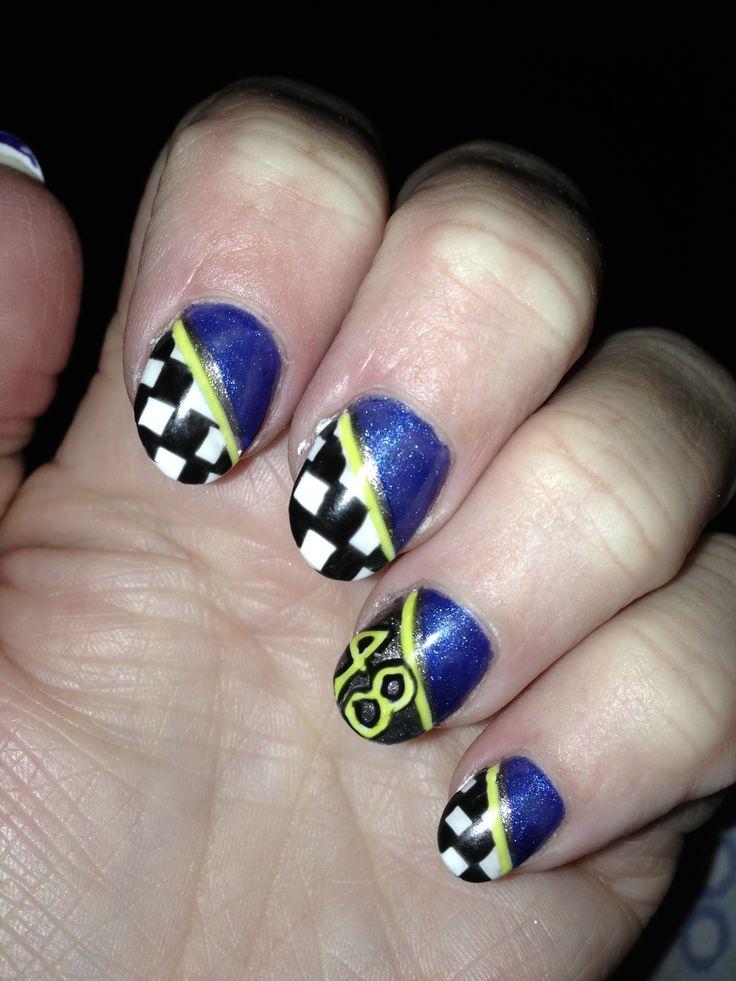 NASCAR fan #48 nails by JC at LA Nails Sioux Falls