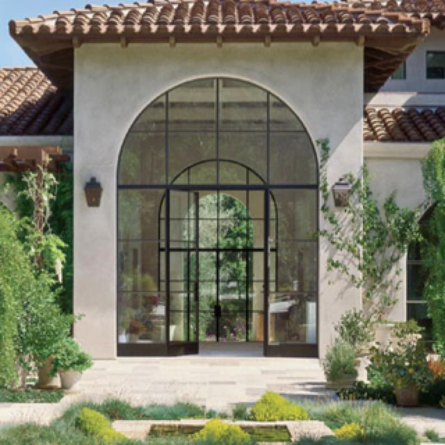Arched windows and doors house pinterest - Houses with arched windows ...