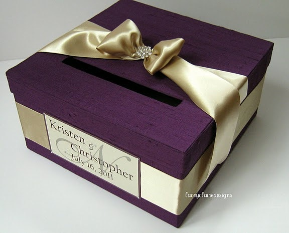 Wedding Gift Box Pinterest : Wedding Gift Card Box Custom Made by LaceyClaireDesigns on Etsy