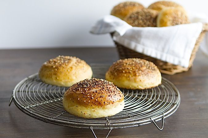 Everything Hamburger Bun - Chez Us. Take that burger to memorable. # ...