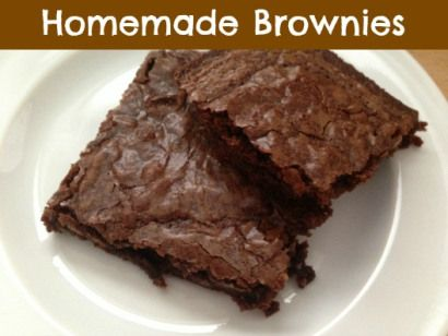 Homemade Brownies | Food | Pinterest