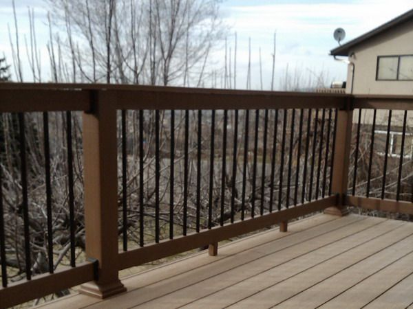Wood Deck Railing Idea Decor Pinterest