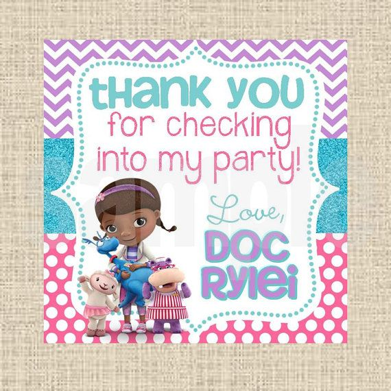 It is a graphic of Unforgettable Doc Mcstuffins Printable Labels