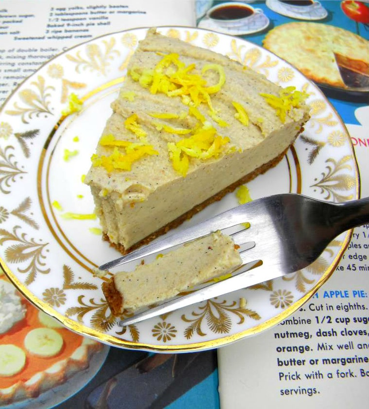 Meyer Lemon Cream Pie or Ice-cream Pie | Vegan Style Nomming | Pinter ...