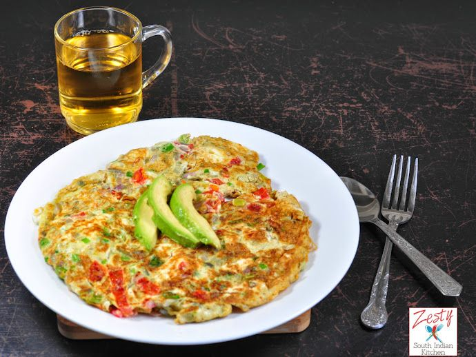 Indian Omelette made with safest choice pasteurized eggs, veggies and ...