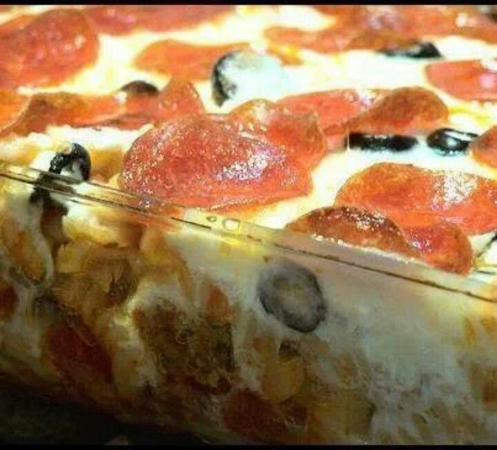 Pizza casserole! | Recipes | Pinterest