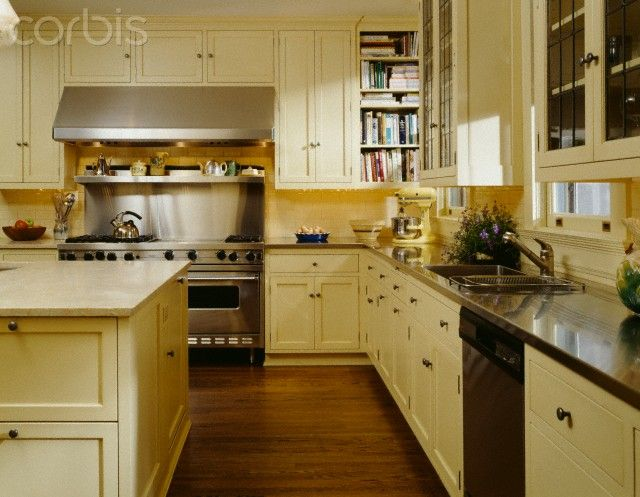 Another view of butter yellow cabinets basement ideas for Buttery yellow kitchen cabinets
