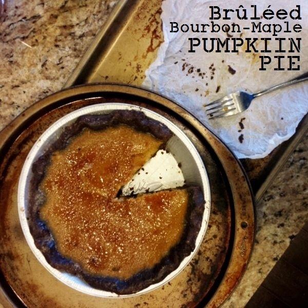 bruleed bourbon maple pumpkin pie | PIES | Pinterest