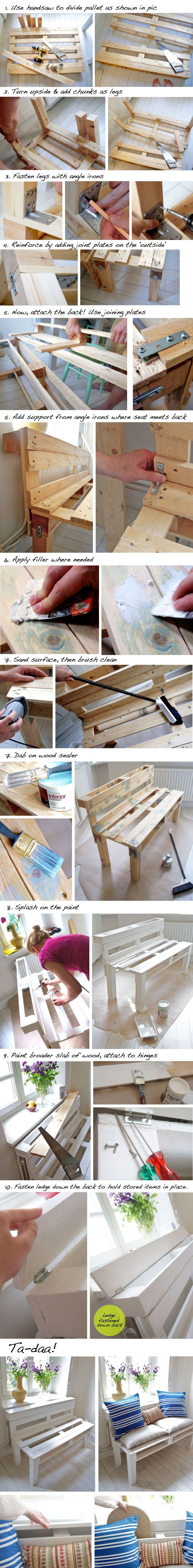 DIY pour un banc en palette dans votre entrée