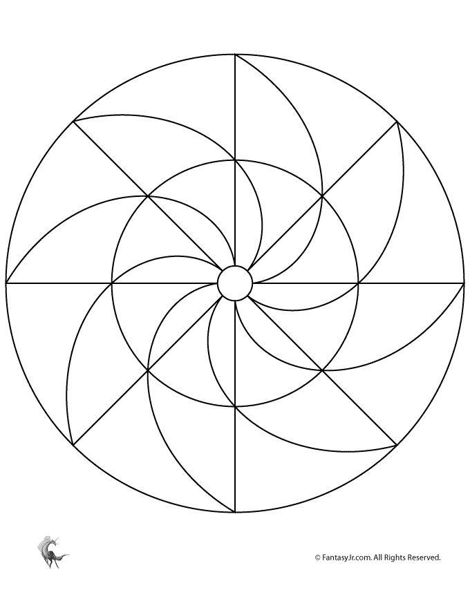 mandala template for tangling zentangle pinterest