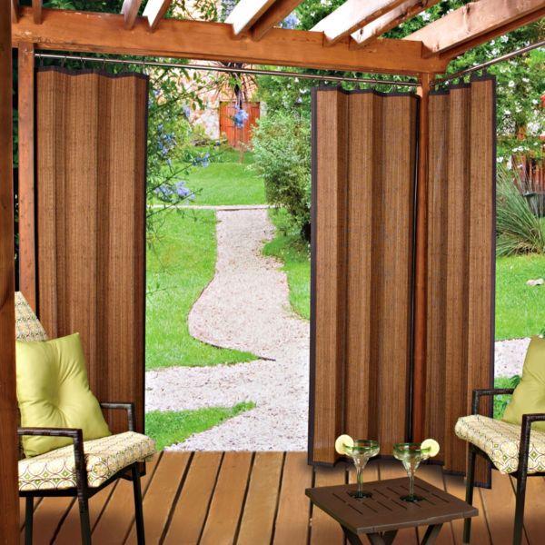 Bamboo Curtain Panels Outdoors Pinterest