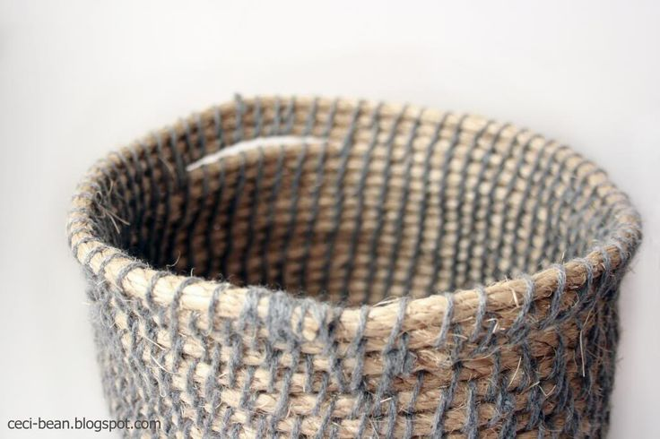 How To Weave A Basket With Rope : Cecibean diy woven rope basket make