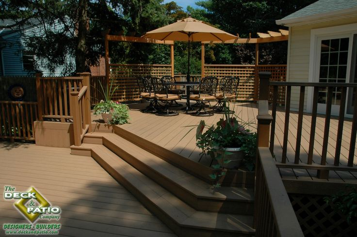 Nice Outdoor Decks : houzz deck and patio with kitchen  Deck builder Long Island Deck and