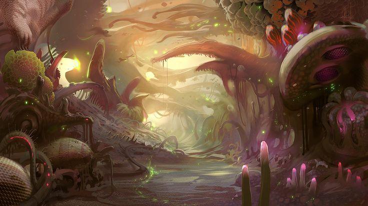 Alien jungle by wargame scenery - Plante jungle ...