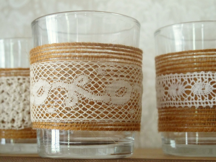 These are nice..as well as mason jars decorated like this.