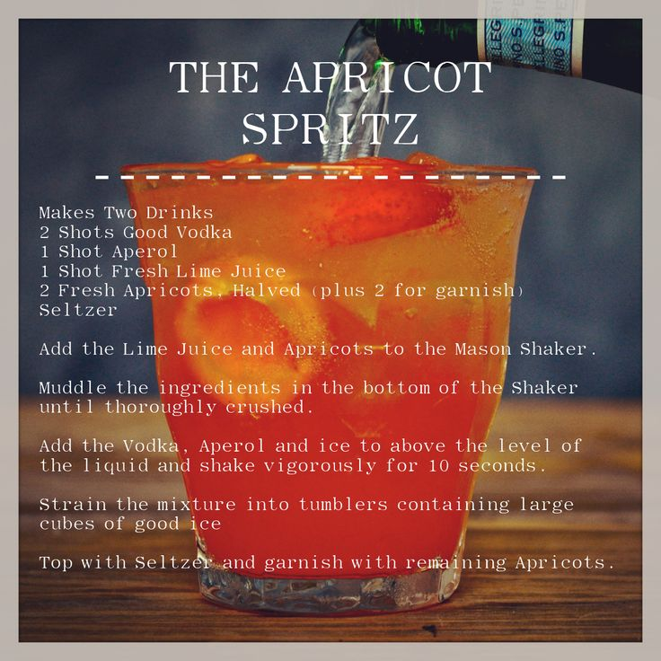 he Apricot Spritz // The Recipe | Jilly's Bar | Pinterest