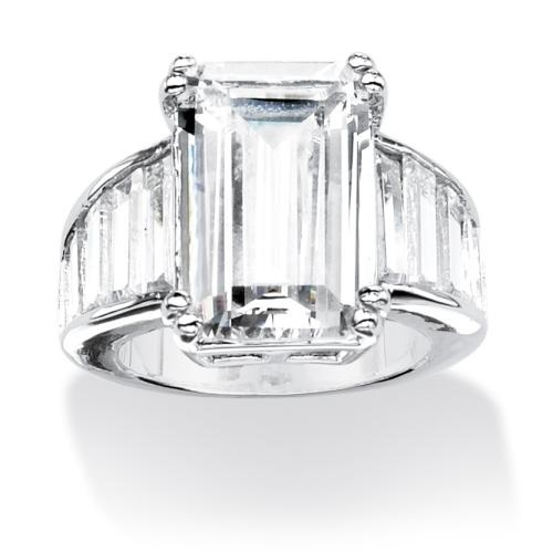 anniversary rings anniversary rings with emerald cut diamonds
