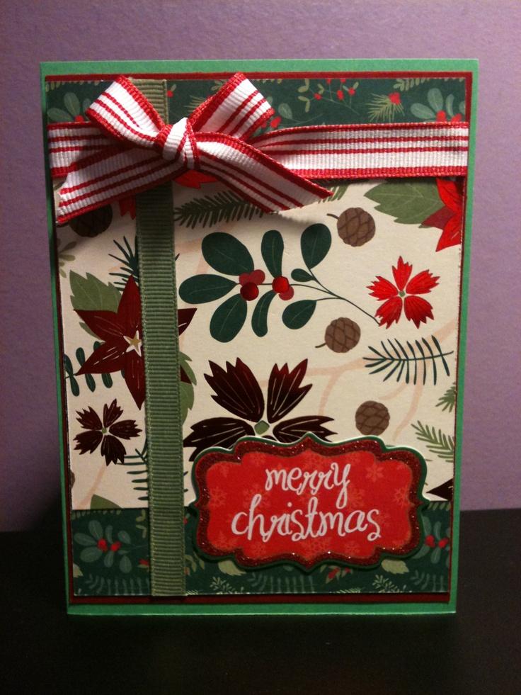 Christmas card craft ideas pinterest for Crafty christmas cards ideas