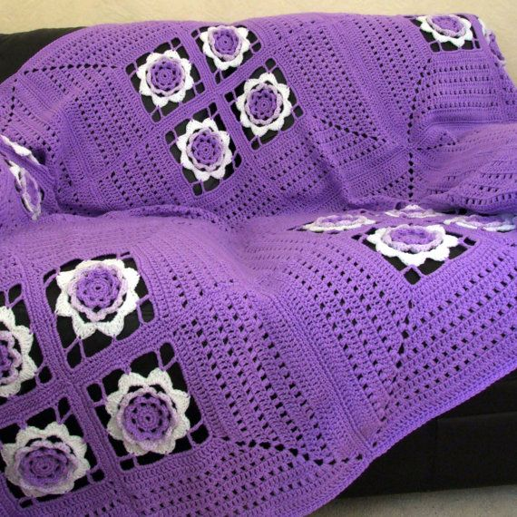 Crochet Pattern - Irish Rose Afghan - PDF