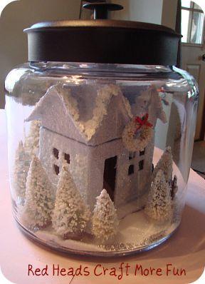 Glitter house in a jar