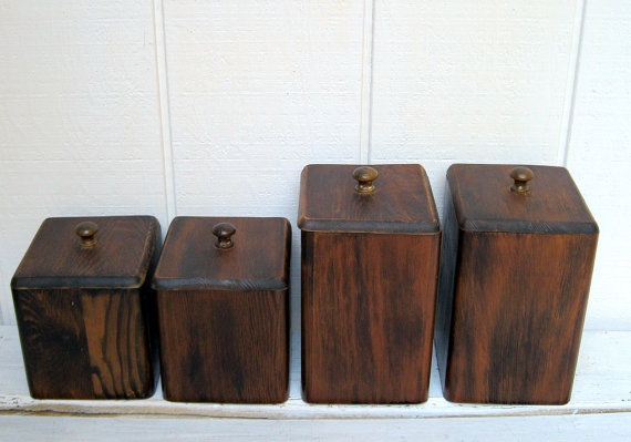 wooden kitchen canister set for the home pinterest