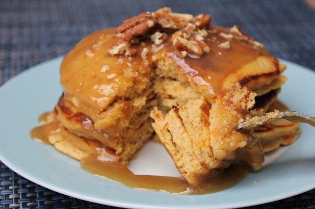 Sweet Potato Pancakes with Cinnamon Caramel Syrup--cinnamon and sweet ...