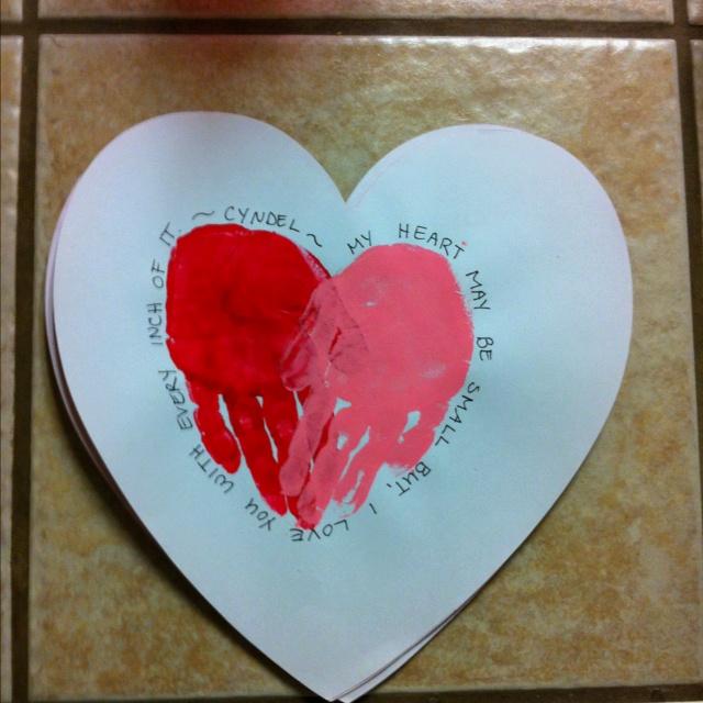 valentine's day handprint heart poem