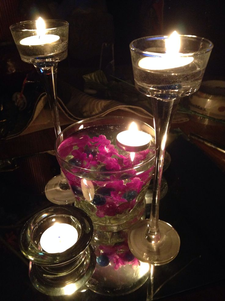 Pin by melissa koller on auntie wedding pinterest - Candle and mirror centerpieces ...