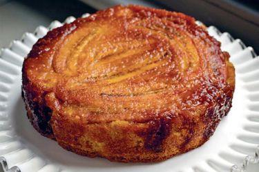 Banana, Coconut and Saffron Upside-Down Cake recipe, Listener ...