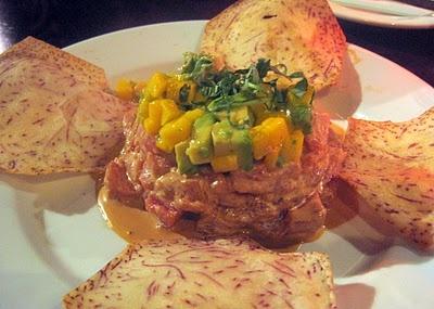 Firefly Tapas restaurant. This tuna tartare w/ mango and avocado ...