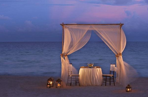 Dhabi romantic course dinner beach