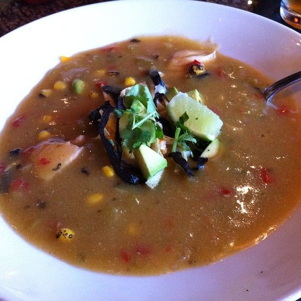 Chicken Tortilla Soup @ BJ's Restaurant & Brewhouse -- LOVE this stuff - looking for a copycat recipe!