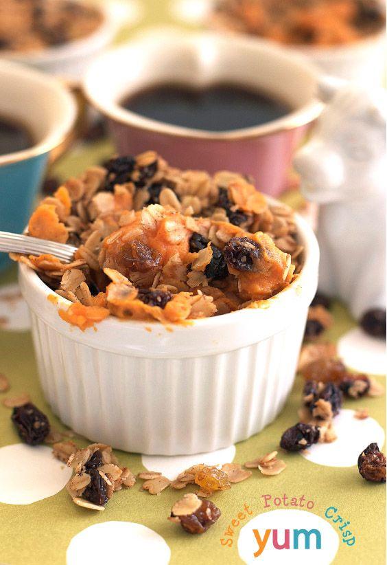 Sweet Potato or Pumpkin Crisp Recipe | FamilyFreshCooking.com