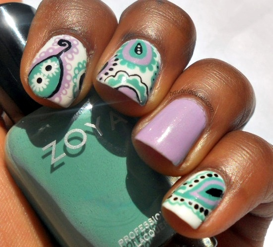 Haute Lacquer: Abstract Paisley