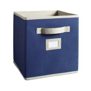 Martha Stewart Living 10 1 2 In X 11 In Azurite Blue Fabric Drawer