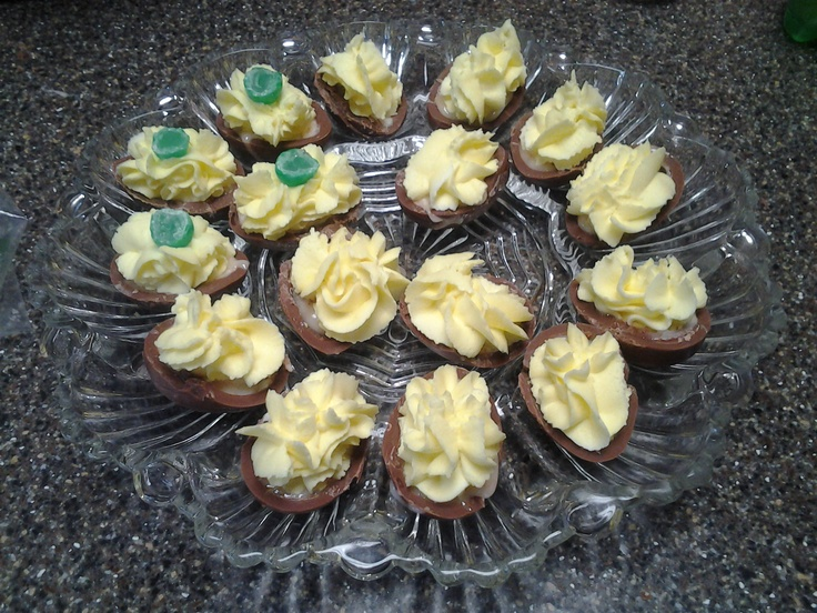 Deviled cadbury creme eggs | TBF Cakes | Pinterest