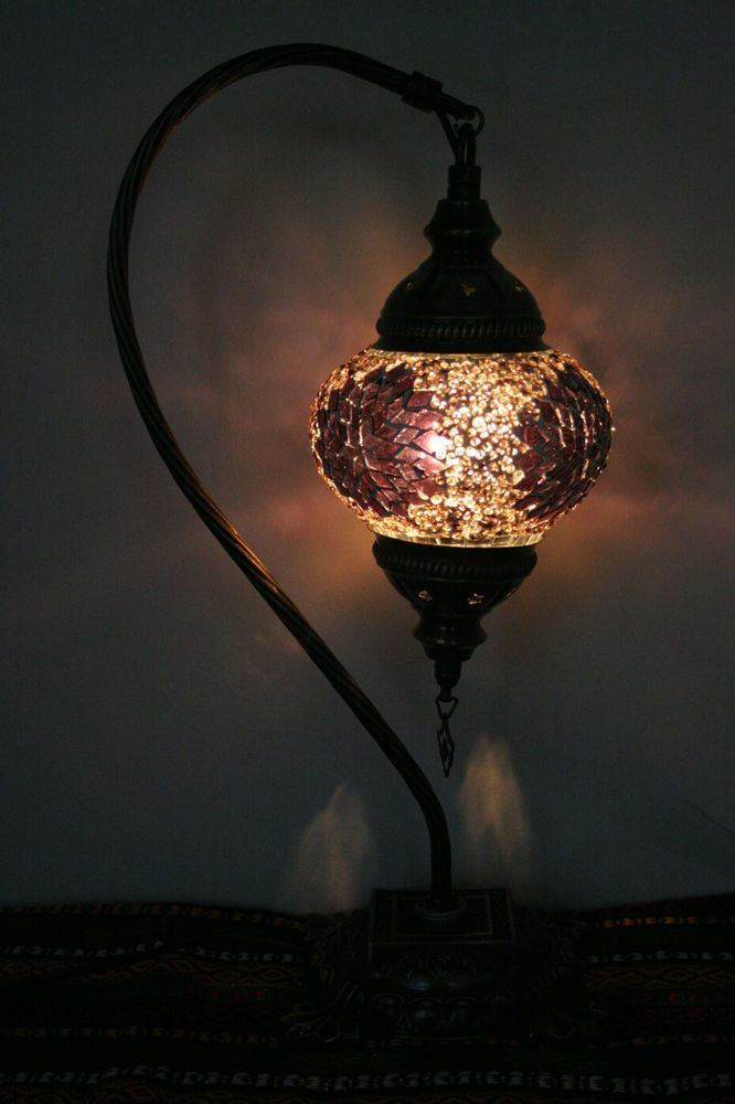 turkish moroccan style mosaic table top lamp hanging swan. Black Bedroom Furniture Sets. Home Design Ideas