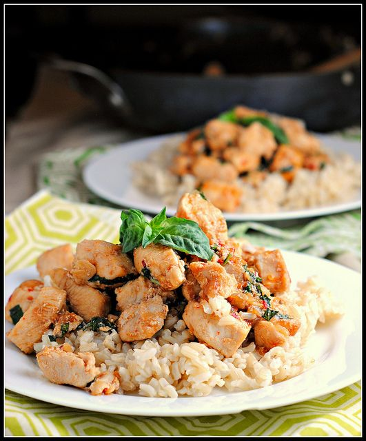 Spicy Basil Chicken | Favorite Recipes | Pinterest