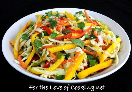Asian Cabbage Mango Slaw. @Cathy Ma Prokopowicz Is this your recipe?