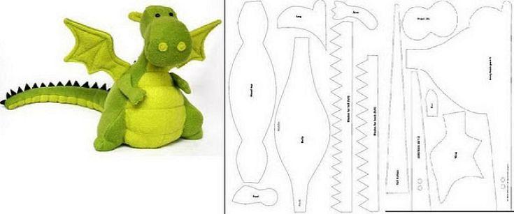 Как сшить динозавра своими руками игрушку 92