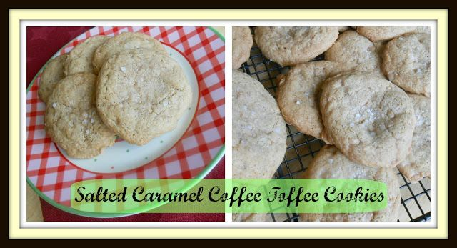 salted caramel cookies with toffee   yum....   Pinterest