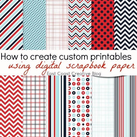 How to create custom Digital Scrapbook Paper Printables