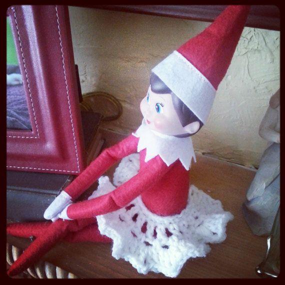 Elf on the shelf crochet skirt by thecraftymamafox on etsy 5 00