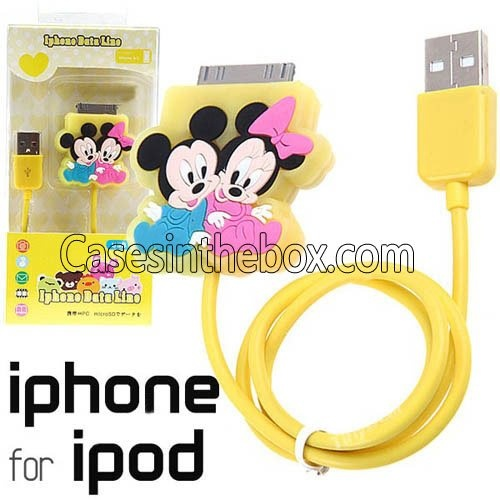 Aliexpress.com : Buy Wholesale Lovely Dock Connector to USB Power & Data Cable for iPhone iPod Minnie & Mickey + free shipping from Reliable Data Cable for iPhone suppliers on CasesInTheBox Co., Ltd
