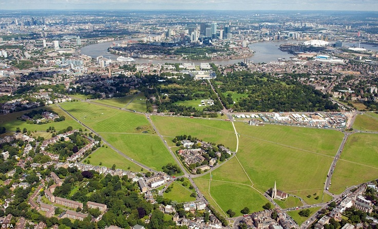 Blackheath Common was also chosen because of its strategic location to the Olympic site