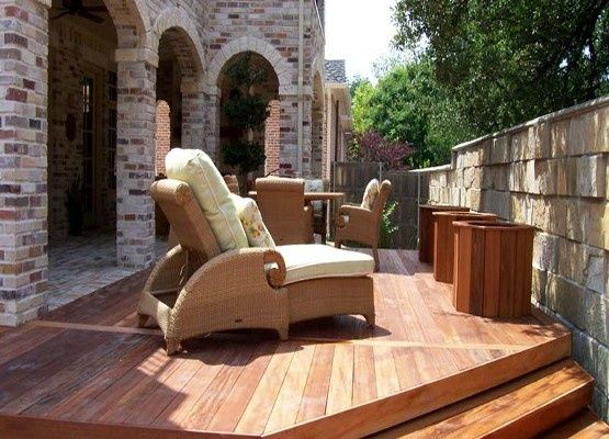 patio with no backyard room