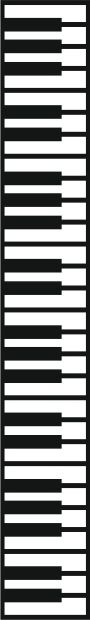 CleverCut.co.uk - piano keys