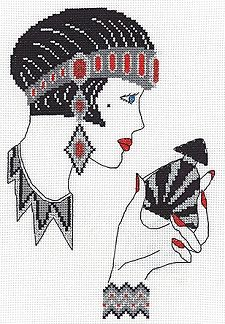 Jasmine, Art Deco Cross Stitch Kit CE557