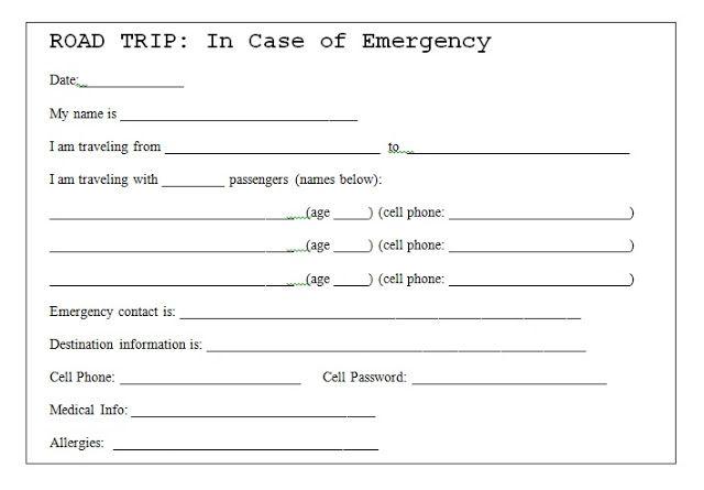 in case of emergency card template twpiratebay. Black Bedroom Furniture Sets. Home Design Ideas